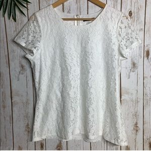 TOMMY HILFIGER Embroidered Lace Blouse